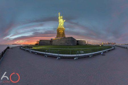 Liberty Island lady liberty amazing sunset by 360sitevisit